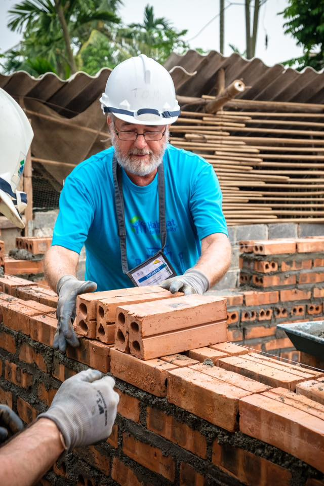 Mr. Tom Chap during his 3rd build this year with HFH Vietnam